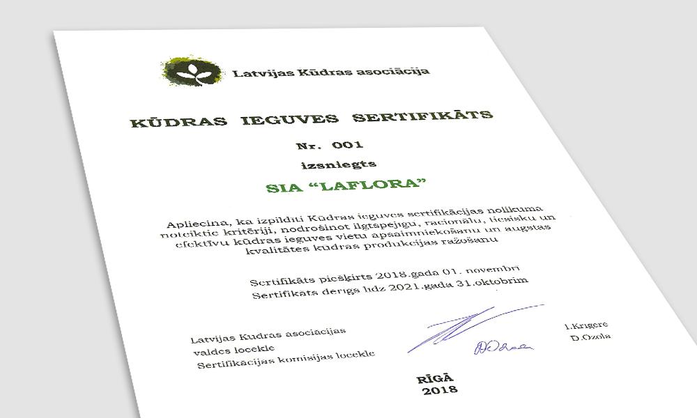 Kūdras ieguves sertifikāta attēls